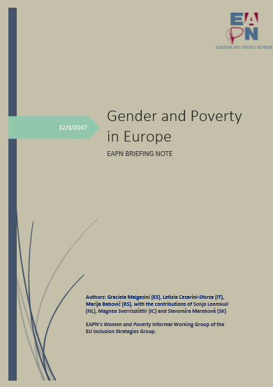 EAPN 2018 Gender Poverty Briefing Cover