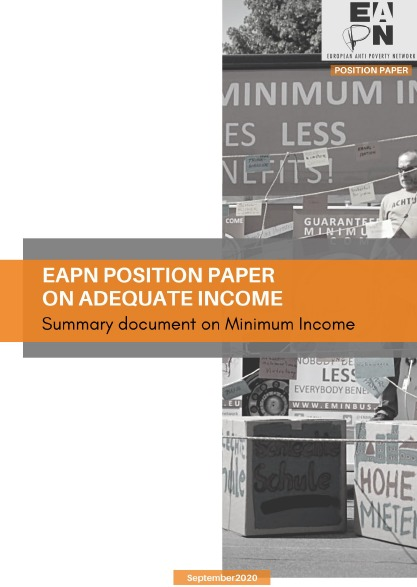 EAPN position on minimum income publication cover image