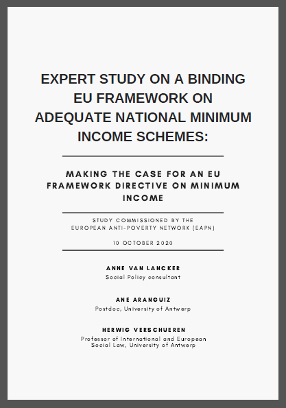 EAPN Expert Study On Minimum Income EU Framework Cover
